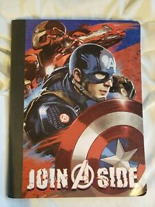 "CAPTAIN AMERICA COMPOSITION BOOK  MARVEL 9.75"" x 7.5""  CIVIL WAR  JOIN A SIDE"