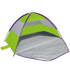 Yello Zip Up Green Beach Shelter Lightweight Tent Sun Canopy UV Guard Carry Case