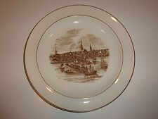 Wedgwood Boston Harbor in 1768 Plate, Brown/White