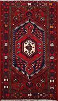 Tribal Hand-knotted Geometric Hamedan Area Rug Traditional Oriental Carpet 3'x5'