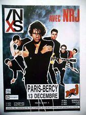 PUBLICITE-ADVERTISING :  INXS  1990 pour le concert de Bercy