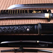 hand forge folded steel clay tempered Japanese Samurai Sword Katana sharp blade.