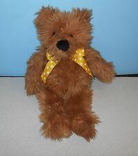 """1995 Ganz 16"""" Jasper The Furry Teddy Bear Stuffed Plush Animal w/ Polka Dot Bow"""