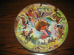 Vintage - Springbok HORSES CIRCULAR ROUND PUZZLE!! 1960's NICE COMPLETE