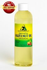 HAZELNUT OIL ORGANIC by H&B Oils Center COLD PRESSED PREMIUM 100% PURE 4 OZ