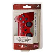 Manette PS3 DualShock sans fil Bluetooth Gamepad contrôleur pour Play Station 3 Rouge
