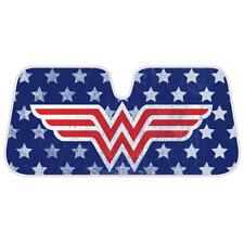 Wonder Woman Red Blue Stars American Flag Car Auto Sun Windshield Heat Shade
