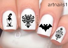 Disney Nails Haunted Mansion Mickey Bat Halloween Art Water Decal Sticker Polish