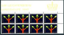 LIECHTENSTEIN - 1967 - Assistenza tecnica delle Nazioni Unite - Blocco di 8