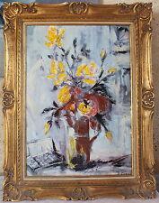 hst huile sur toile bouquet signée Fabiani Bovincini peinture tableau flowers