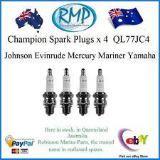 A Brand New Set Of 4 QL77JC4 Spark Plugs Yamaha Evinrude Mercury Johnson Mariner