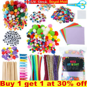 1200PCS All in One Arts and Craft Supplies Kit Kids Crafting Collage Art Set DIY