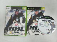 NHL 2002 Microsoft Original Xbox CIB Complete Hockey Tested 2001 Video Game