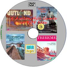 Jutland, Peloponnesian, Trireme, Wooden Ships Iron Men PDF WW2 Avalon Hill DVD