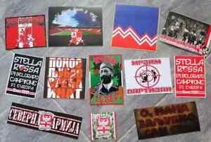 12 x Football Ultras Stickers Delije-Sever RED STAR BELGRADE