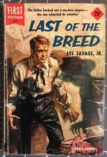 LAST OF THE BREED by Les Savage Jr. Dell First Edition #37 1954 Vintage Western