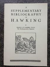 FALCONRY HAWKS HAWKING BIBLIOGRAPHY BOOKS FALCONS BIRDS HUNTING BIRD