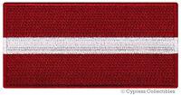LATVIA FLAG embroidered iron-on PATCH LATVIAN EMBLEM