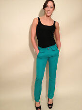 DEPT Low Rise Woven Trouser Pant, Sea Green, NWT, size L.  $140