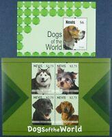 Nevis 2011 Hunde Dogs Pets Haustiere 2654-2657+ Block 309 Postfrisch MNH