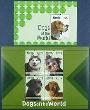 Nevis 2011 Hunde Dogs Pets Haustiere 2654-57+ Block 309 Postfrisch MNH