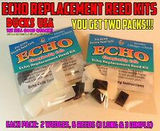 Echo Duck Call Reed Kit You Get 2 Packs! 2 Wedge, 6 Long Reeds in each Pack