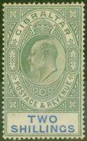 Gibraltar 1903 2s Green & Blue SG52 Good Mtd Mint