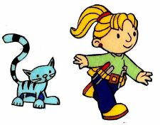 "2"" BOB THE BUILDER WENDY PILCHAR CAT SET FABRIC APPLIQUE IRON ON CHARACTER"