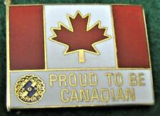 "KINSMEN CANADA PIN ""PROUD TO BE CANADIAN"" NEAR MINT"
