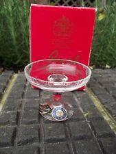 Vintage Rare Royal Brierley Cut Glass Crystal Miniature Comport Tazza