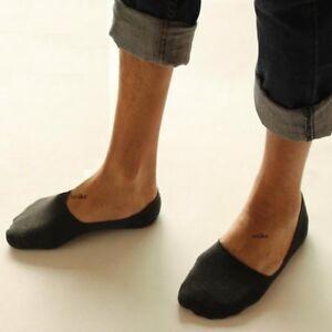 12 Pairs Plain Mens Invisible Trainer Liner Socks No Show Secret Footsies UK6-11