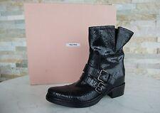 MIU MIU by Prada Gr 36,5 Damen Stiefel Boots 5U8855 schwarz NEU UVP 695€
