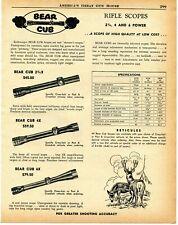 1957 Print Ad of Kollmorgen Bear Cub Rifle Scopes