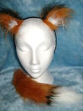 Mini Fox Ears And Tail Luxury Fake Fur Chestnut Fox Fancy Dress Ears & Foxtail