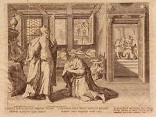 ETCHING ACQUAFORTE BULINO JAN SADELER MARTIN DE VOS STORIA SAUL E DAVID 1595 (6)