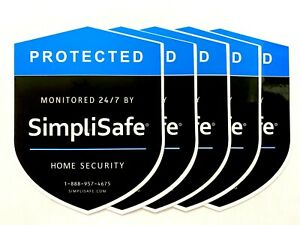 5 SimpliSafe Home Security Decals Stickers for Doors or Windows - Double Sided