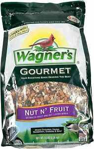 Wagner's 82072 Gourmet Nut & Fruit Wild Bird Food, 5-Pound Bag,Black