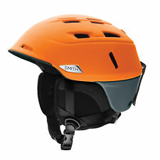 Smith Ski Helmet Snowboard Camber Orange Lightweight Plain Colour Ventilation