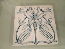 BLUE AND WHITE FLORAL DECORATIVE TRANSER TILE