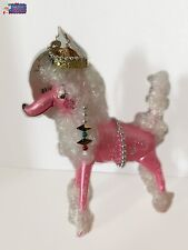 New ListingChristopher Radko Ornament Poodleicious 1014525 Made in Italy 6.5'W