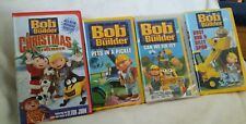Bob The Builder VHS Tape Lot Christmas ~Busy Bob Silly Spud~Fix it~Pets Pickle