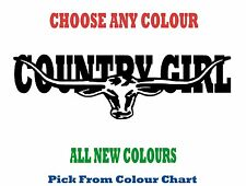 COUNTRY GIRL 580mm LONGHORN DECAL *CHOICE OF COLOURS*  RM Williams STICKER