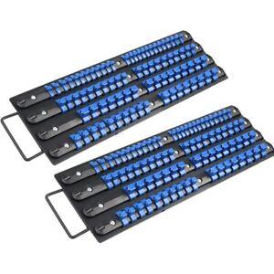 80X Universal Socket Storage Rail Tray Rack Holder Sockets 1/4 3/8 1/2 in Drive