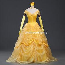 Cartoon Cosplay Princess Costume beauty and the beast Belle Dress Adult Dress