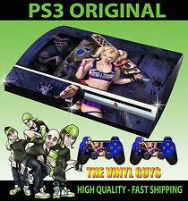 PLAYSTATION PS3 ORIGINAL STICKER LOLLIPOP CHAINSAW DARK ZOMBIE SKIN & 2 PAD SKIN