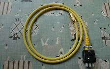 Single QUAD II Monoblock Jones Plug to phono plug leads 1 meter in Yellow