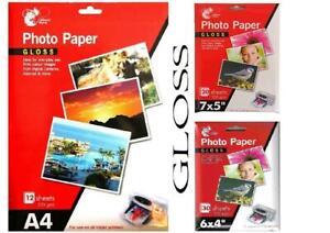 Gloss Photo Paper Premium Quality Inkjet Printer A4 6 x 4'' 7 x 5''