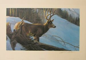 Robert Bateman Mule Deer in Winter Limited Edition Print Mint