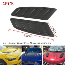 ABS Car Air Flow Intake Hood Scoop Vent Louver Panel Bonnet Cover Decor Stickers