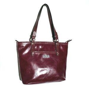 Nine & CO by Nine West Shoulder Bag Handbag Purse Merlot Deep Purple